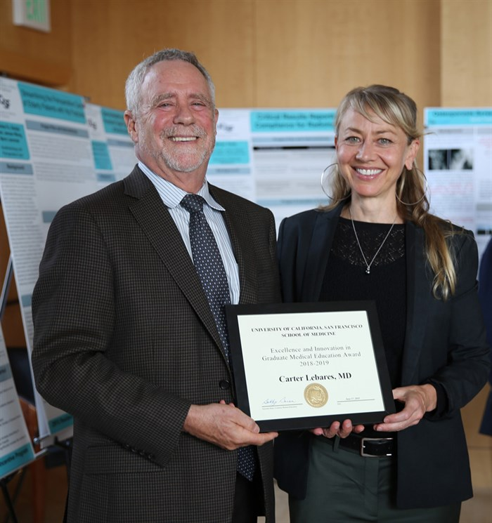 Carter Lebares Receives UCSF Excellence And Innovation Award In Graduate Medical Education Award